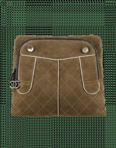 Chanel Khaki Suede CC Hunting Backpack Bag