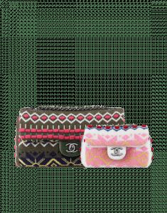 Chanel Multicolor Cashmere Flap Bags
