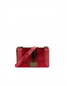 Chanel Red Calf Hair Boy Chanel in Salzburg Flap Small Bag