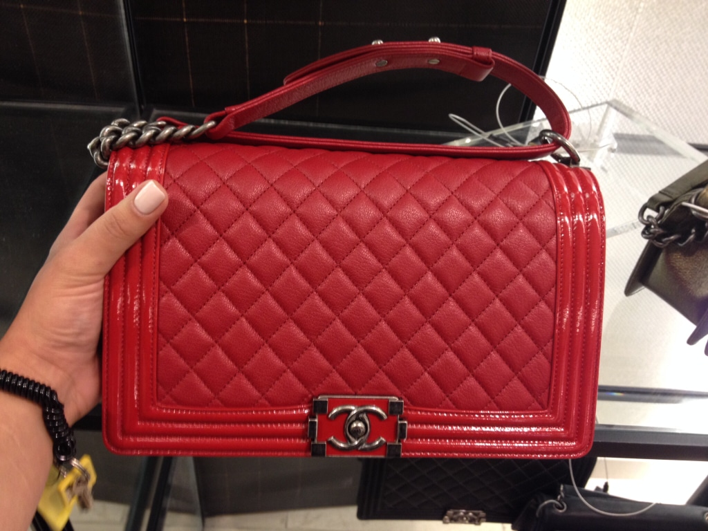 3b57d48d7c0 Chanel Boy Bag Inside Red