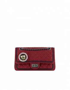 Chanel Red Wool 2.55 Reissue 225 Flap Bag