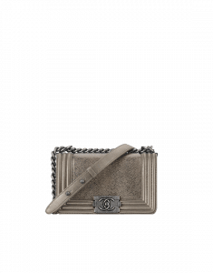 Chanel Silver Lizard Boy Chanel Exotic Flap Small Bag