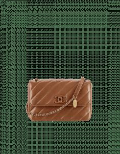 Chanel Tan Lambskin Flap Small Bag