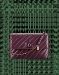 Chanel Violet Lambskin Flap Large Bag