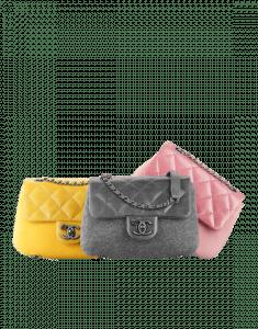 Chanel Yellow/Grey/Pink Bi Curvy Flap Bags