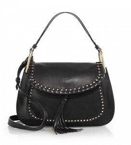 Chloe Black Leather Hudson Crossbody Bag