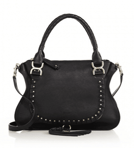 Chloe Black Studded Marcie Medium Bag