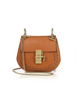 Chloe Caramel Perforated Drew Mini Bag