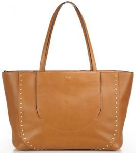 Chloe Caramel Studded Isa Tote Bag
