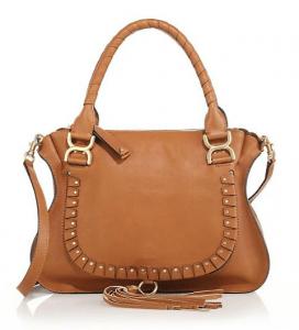 Chloe Caramel Studded Marcie Medium Bag