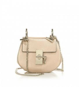 Chloe Gold Metallic Drew Nano Bag
