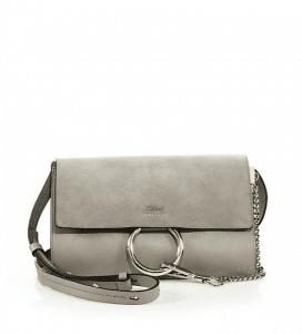 Chloe Motty Suede/Calfskin Faye Clutch Small Bag
