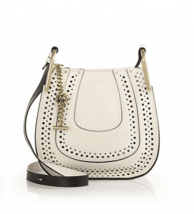 Chloe White Perforated Hayley Small Bag