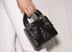 Dior Black Crocodile Special Edition Lady Dior Mini Bag