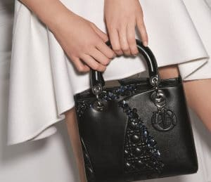 Dior Black Special Edition Lady Dior Bag