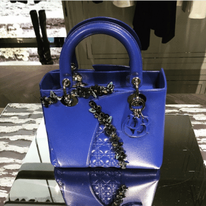 Dior Blue Special Edition Lady Dior Bag 2