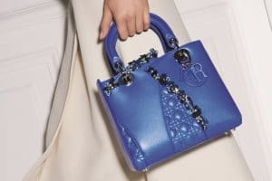 Dior Blue Special Edition Lady Dior Bag