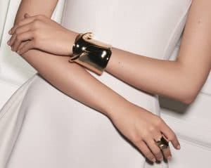 Dior Gold Petal Ring and Cuff Special Edition