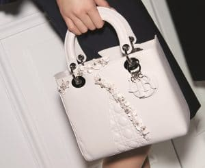 Dior White Special Edition Lady Dior Bag