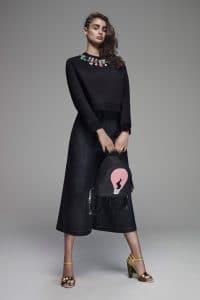 Fendi Black with Light Bulb Fur Mini Backpack Bag - Resort 2016