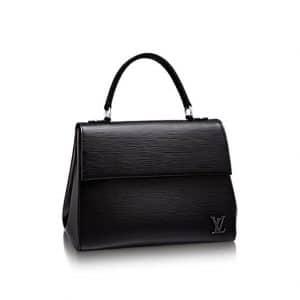 Louis Vuitton Noir Epi Cluny MM Bag