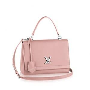 Louis Vuitton Rose Ballerine Lockme II Bag