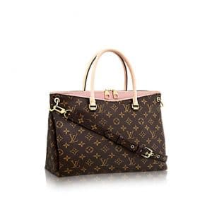 Louis Vuitton Rose Ballerine Monogram Canvas Pallas Bag