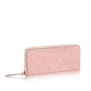Louis Vuitton Rose Ballerine Monogram Empreinte Clemence Wallet