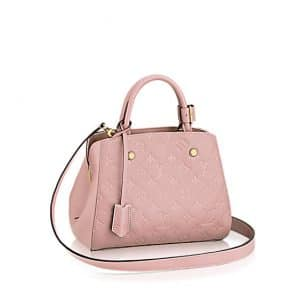 Louis Vuitton Rose Ballerine Monogram Empreinte Montaigne BB Bag