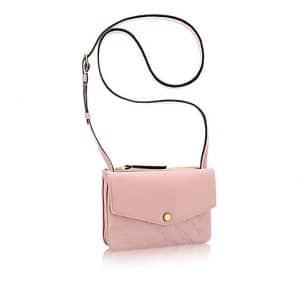 Louis Vuitton Rose Ballerine Monogram Empreinte Twinset Bag