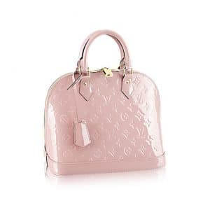 Louis Vuitton Rose Ballerine Monogram Vernis Alma PM Bag