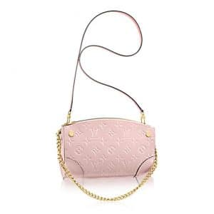 Louis Vuitton Rose Ballerine Monogram Vernis Santa Monica Clutch Bag
