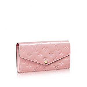 Louis Vuitton Rose Ballerine Monogram Vernis Sarah Wallet