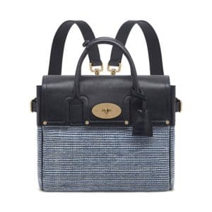 Mulberry Midnight Blue Mixed Denim/Natural Leather Cara Delevingne Bag