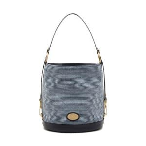 Mulberry Midnight Blue Mixed Denim/Natural Leather Jamie Bag