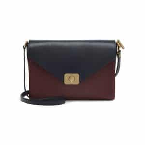 Mulberry Midnight Blue/Oxblood Mixed Denim/Natural Leather Delphie Bag