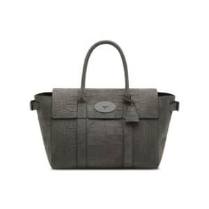 Mulberry Mole Grey Croc Printed Bayswater Buckle Bag
