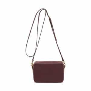 Mulberry Oxblood Blossom Pochette with Strap Bag