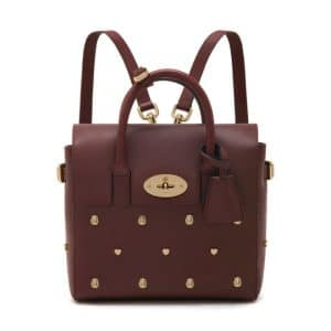 Mulberry Oxblood Cara Delevingne with Rivets Mini Bag