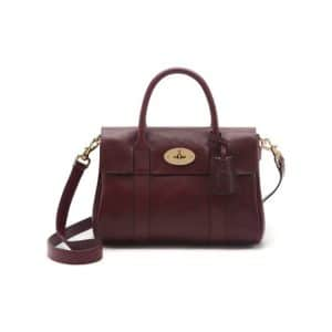 Mulberry Oxblood Natural Leather Bayswater Satchel Small Bag