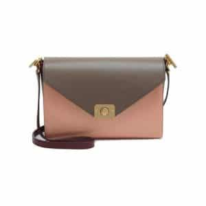 Mulberry Oxblood/Taupe/Rose/Metallic Goat Delphie Bag