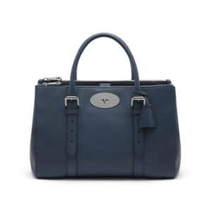 Mulberry Regal Blue Bayswater Bayswater Double Zip Tote Bag
