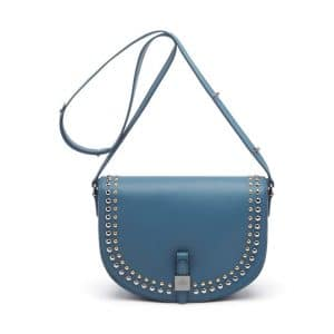 Mulberry Regal Blue Tessie Satchel with Rivets Bag
