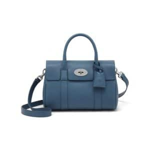 Mulberry Steel Blue Bayswater Satchel Small Bag
