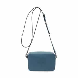 Mulberry Steel Blue Blossom Pochette with Strap Bag