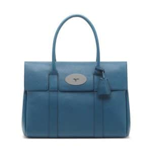 Mulberry Steel Blue Classic Grain Bayswater Bag