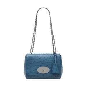 Mulberry Steel Blue Ostrich Lily Bag