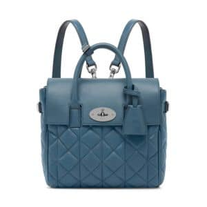 Mulberry Steel Blue Quilted Cara Delevingne Mini Bag