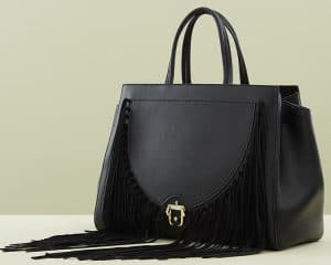 Paula Cademartori Black Fringed Bea Bag