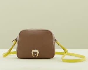 Paula Cademartori Brown/Neon Yellow Didi Crossbody Bag
